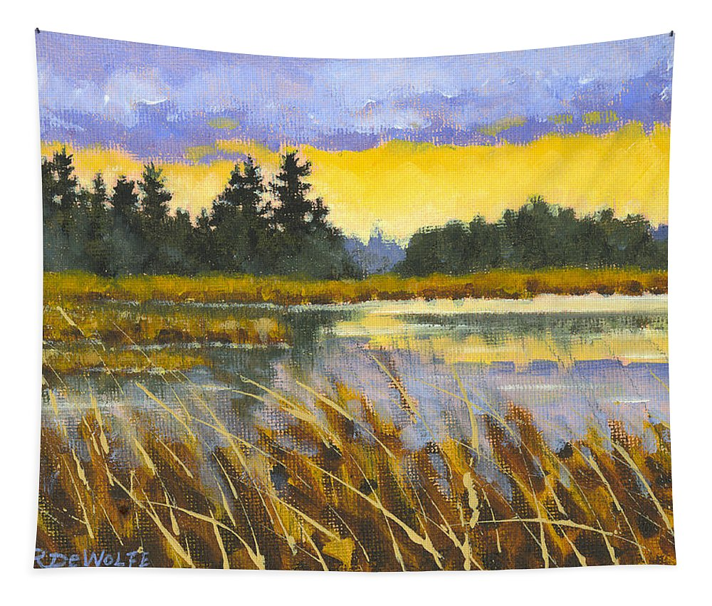Marsh Tapestry featuring the painting I Saw The Light by Richard De Wolfe