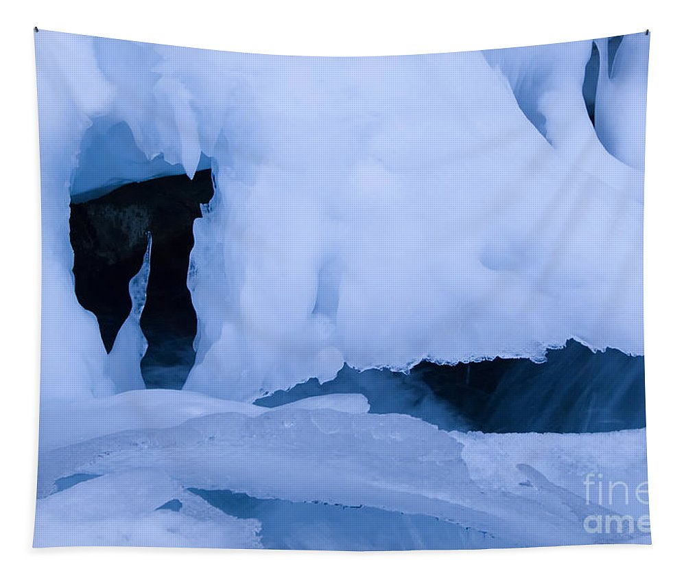 Ice Tapestry featuring the photograph Ice 18 by Bob Christopher