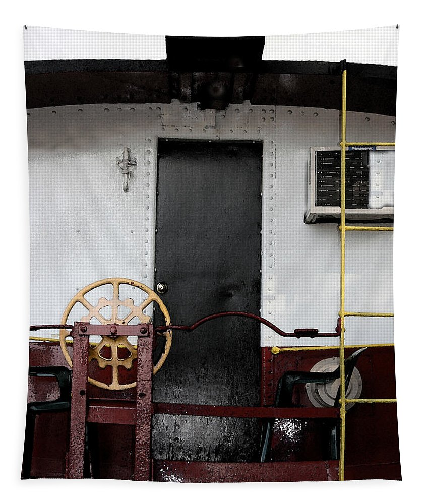 Wagon Tapestry featuring the photograph Il Vagone Bianco by Tila Gun