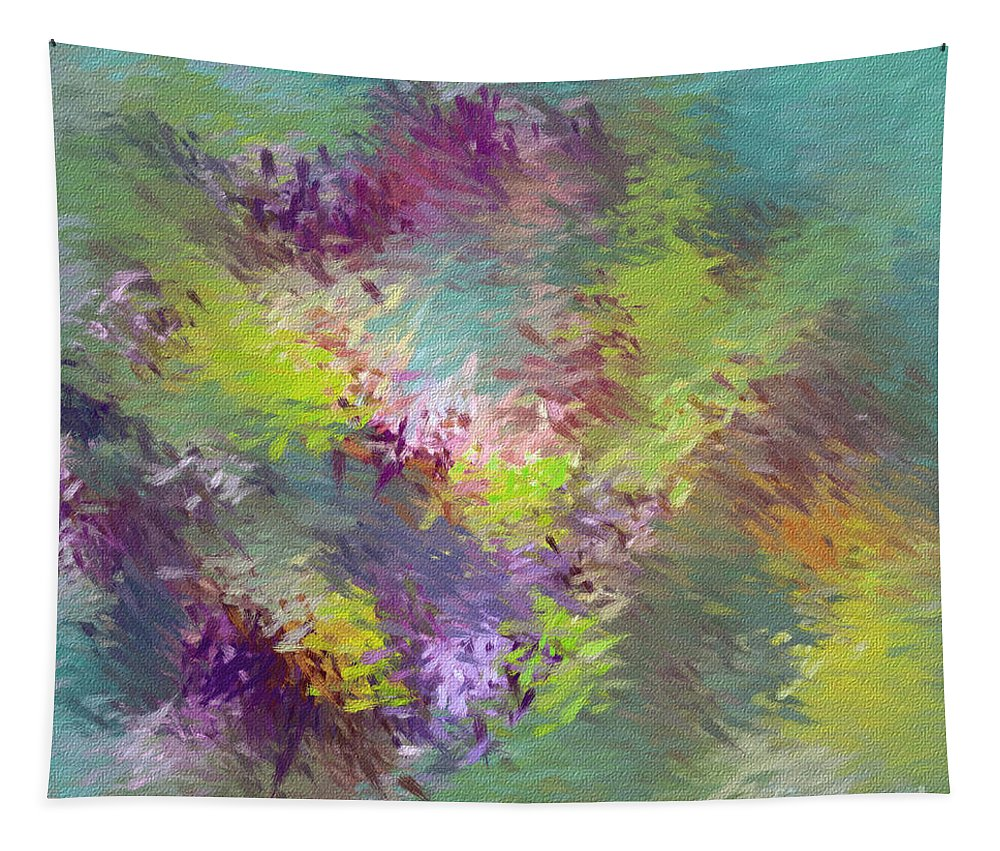 Abstarct Tapestry featuring the digital art Impressionistic Abstract by Deborah Benoit