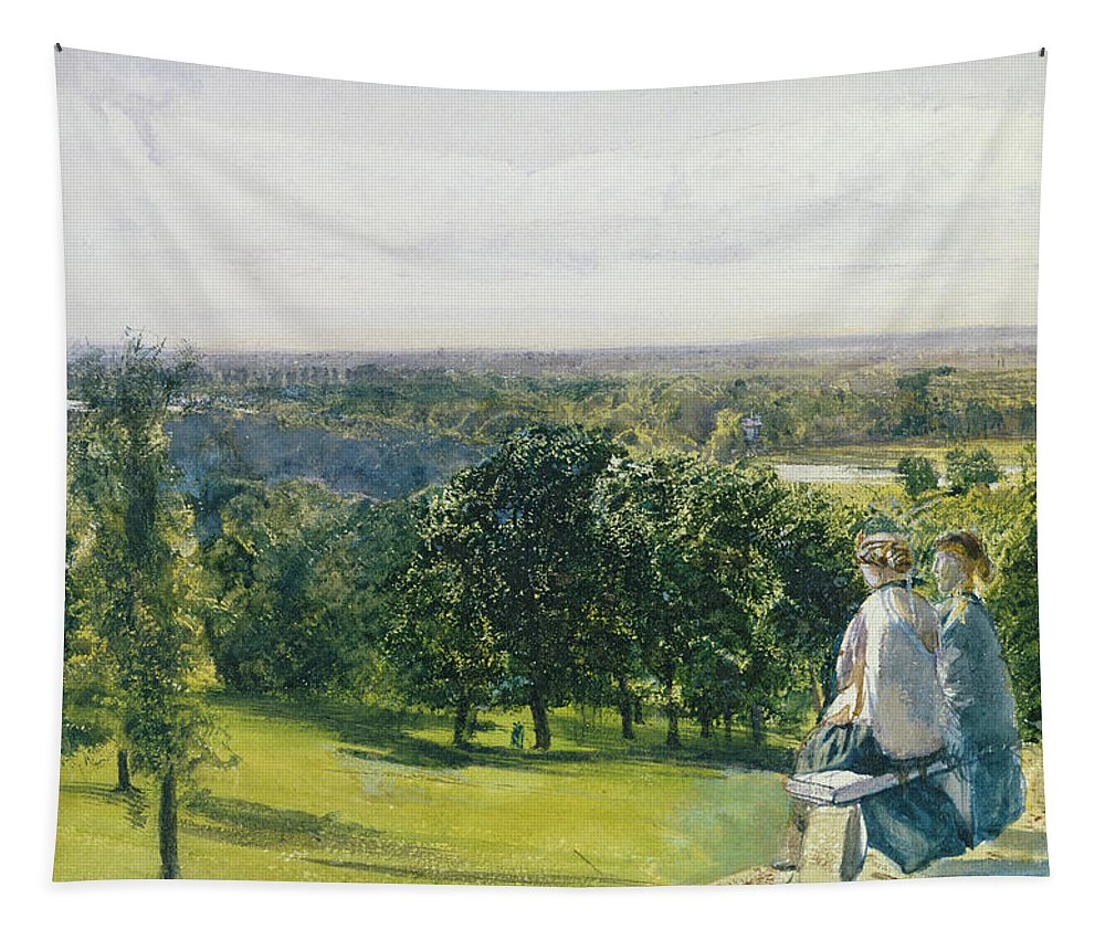 Xyc281155 Tapestry featuring the photograph In Richmond Park by John William Inchbold