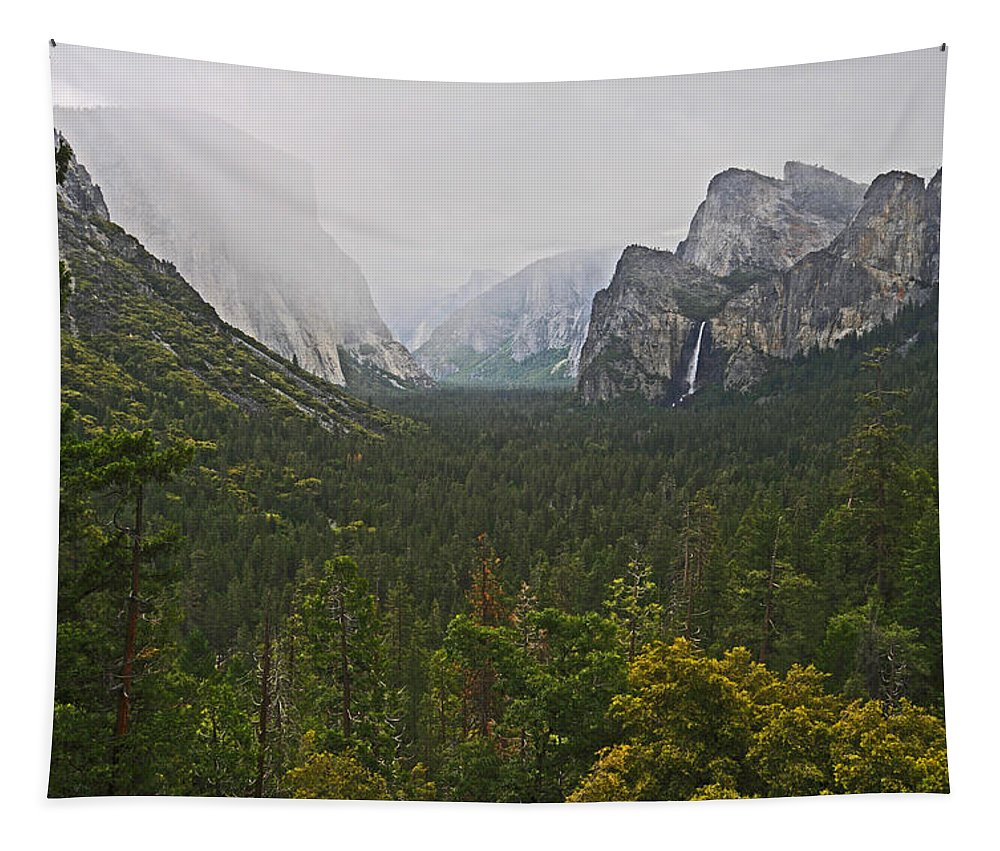 Falls Tapestry featuring the photograph Incoming Storm by Lynn Bauer