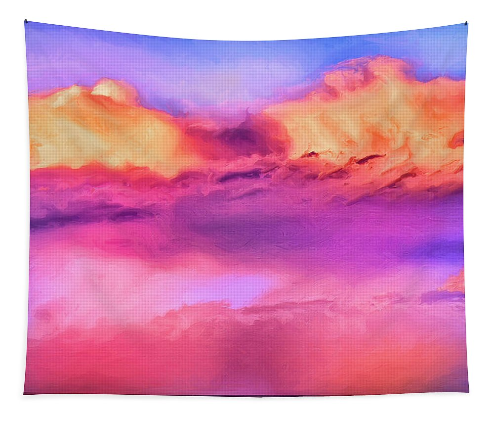 Sunset Tapestry featuring the painting Indian Ocean Sunset by Dominic Piperata