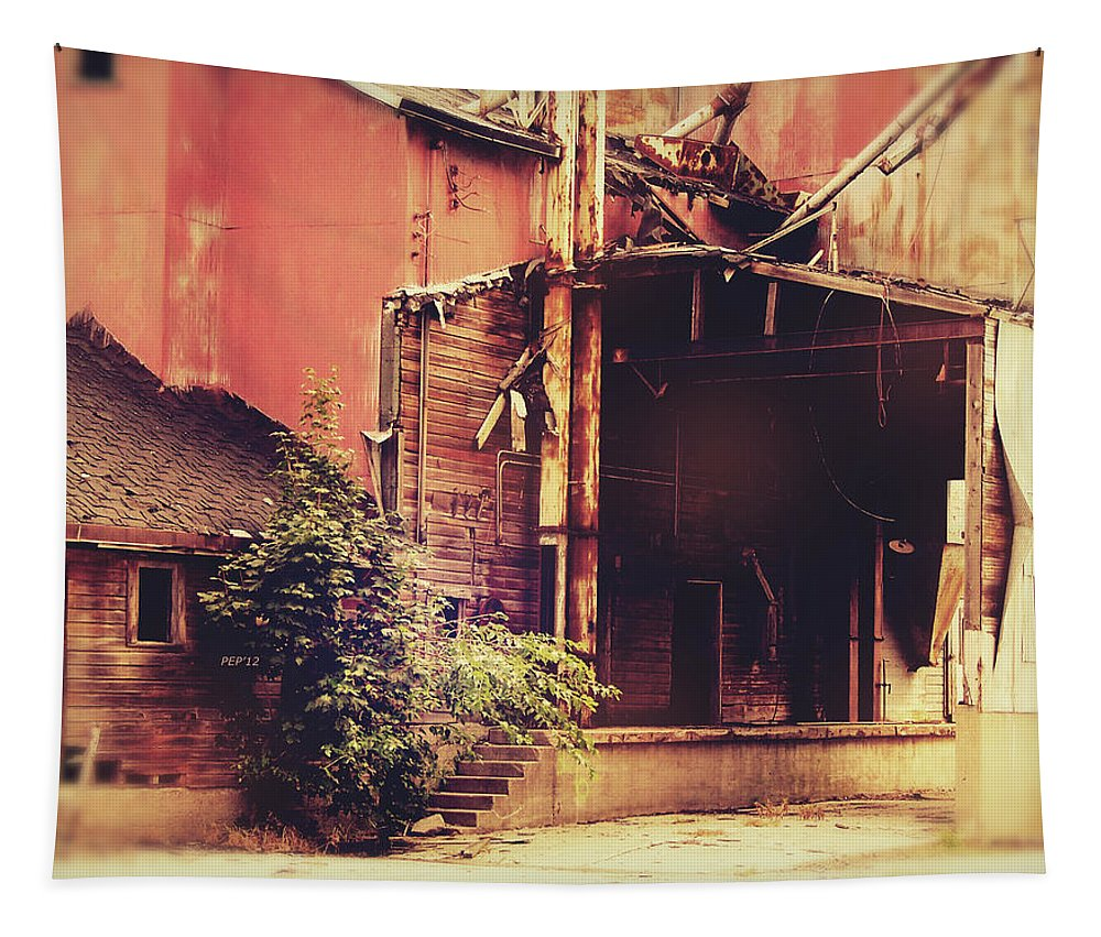 Photo Tapestry featuring the photograph Industry In Disarray by Phil Perkins