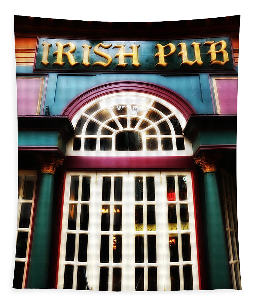 Irish Pub Tapestry featuring the photograph Irish Pub by Bill Cannon