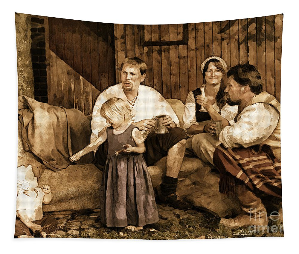 Photo Tapestry featuring the photograph It's More Blessed To Give by Jutta Maria Pusl