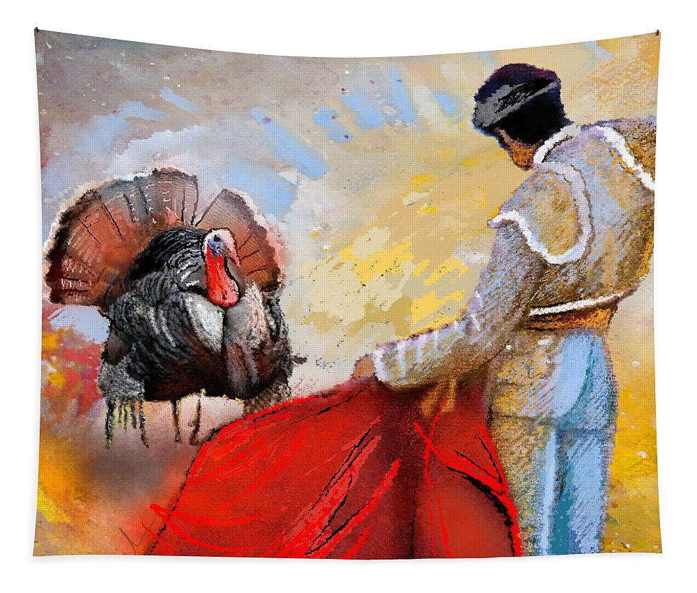 Animals Tapestry featuring the painting Its This Or The Oven by Miki De Goodaboom