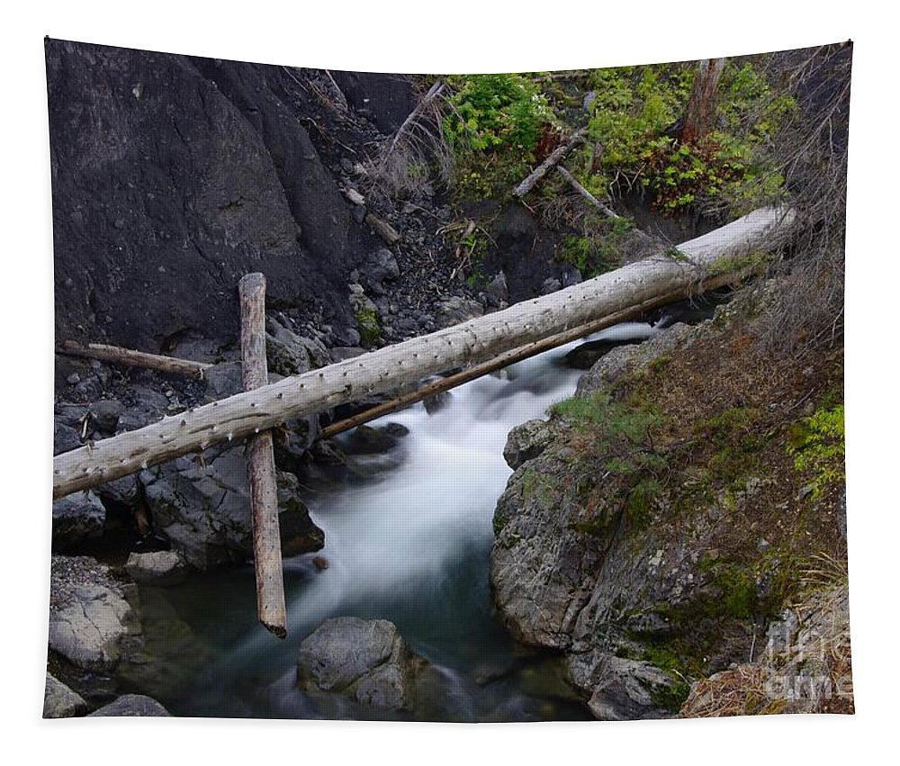 Water Tapestry featuring the photograph Jackstraws Over White Water by Jeff Swan