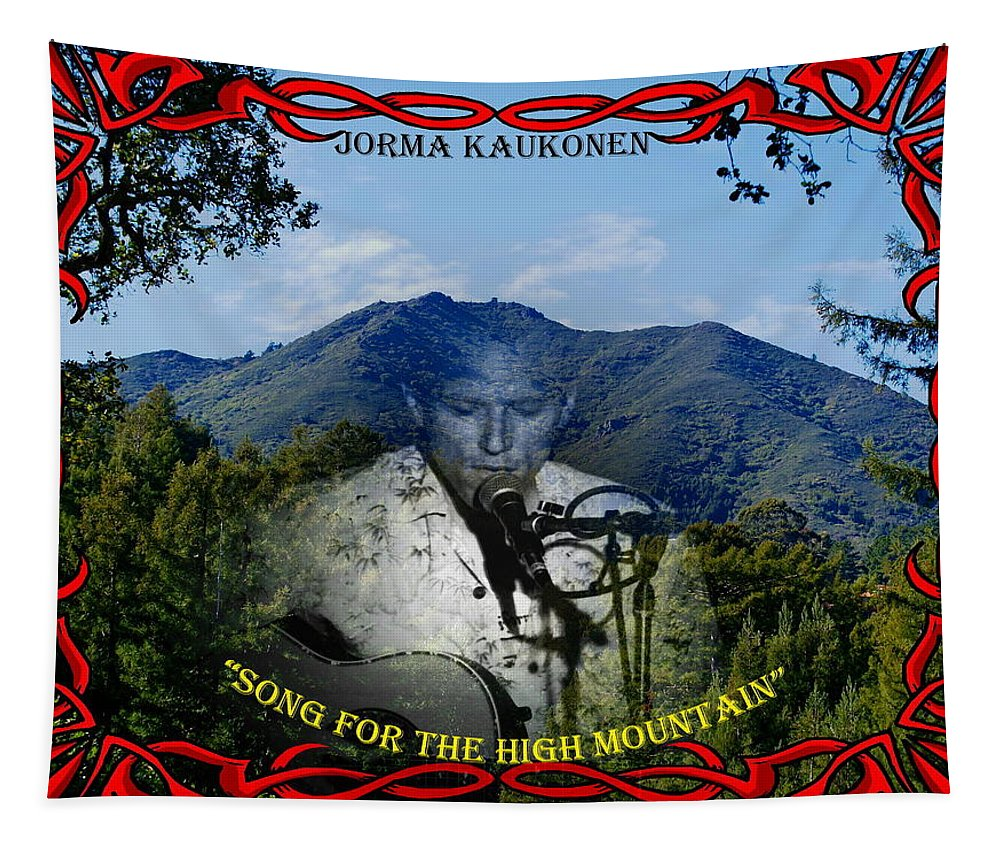 Jorma Kaukonen Tapestry featuring the photograph Jorma- Song For The High Mountain by Ben Upham