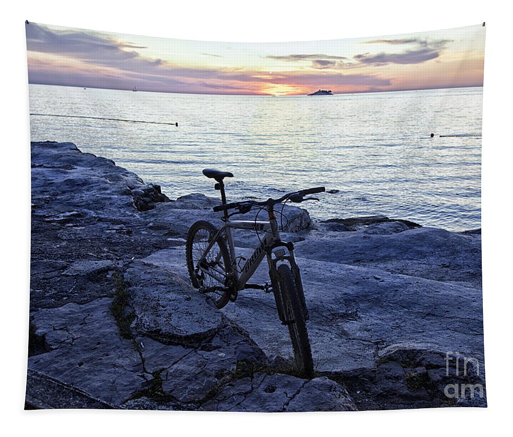 Bike Tapestry featuring the photograph Journey's End by Madeline Ellis