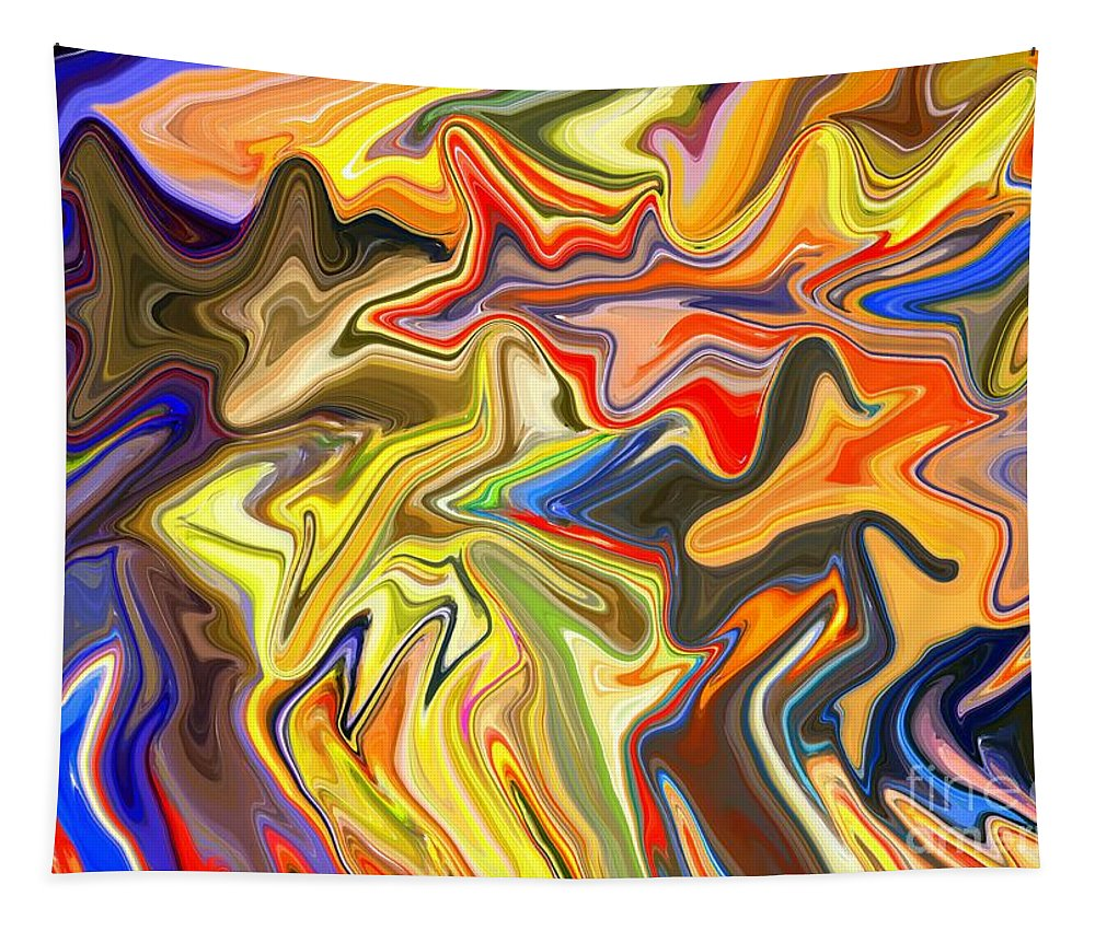 Abstract Tapestry featuring the digital art Just Abstract Viii by Chris Butler