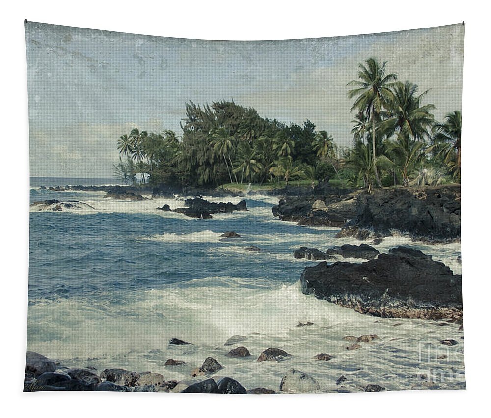 Aloha Tapestry featuring the photograph Keanae by Sharon Mau