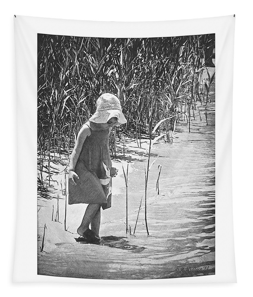 2d Tapestry featuring the photograph Khloe - Grayscale by Brian Wallace