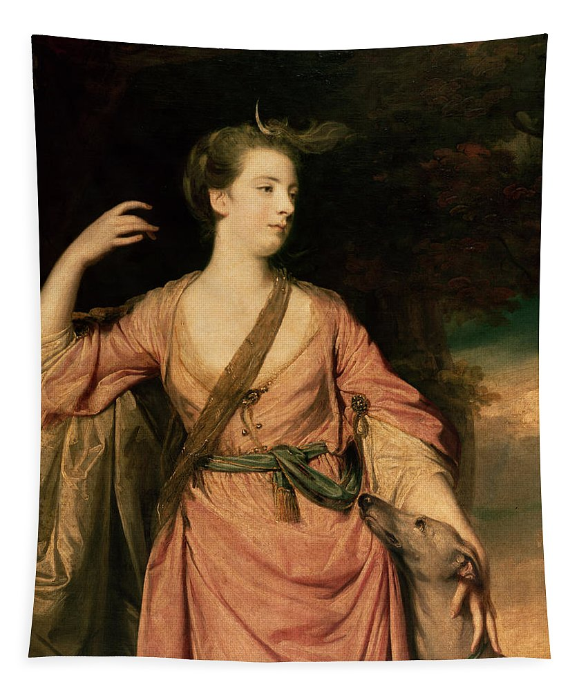 Lady Tapestry featuring the painting Lady Dawson by Sir Joshua Reynolds