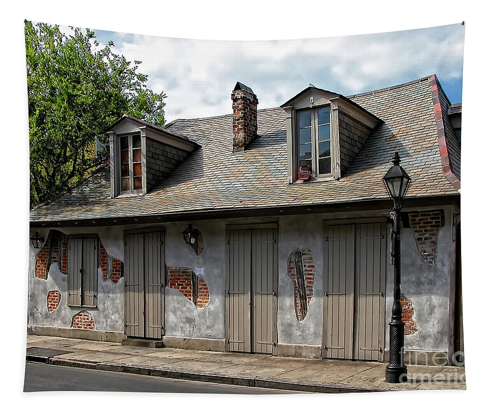 Lafittes Tapestry featuring the photograph Lafittes Blacksmith Shop Bar New Orleans by Kathleen K Parker