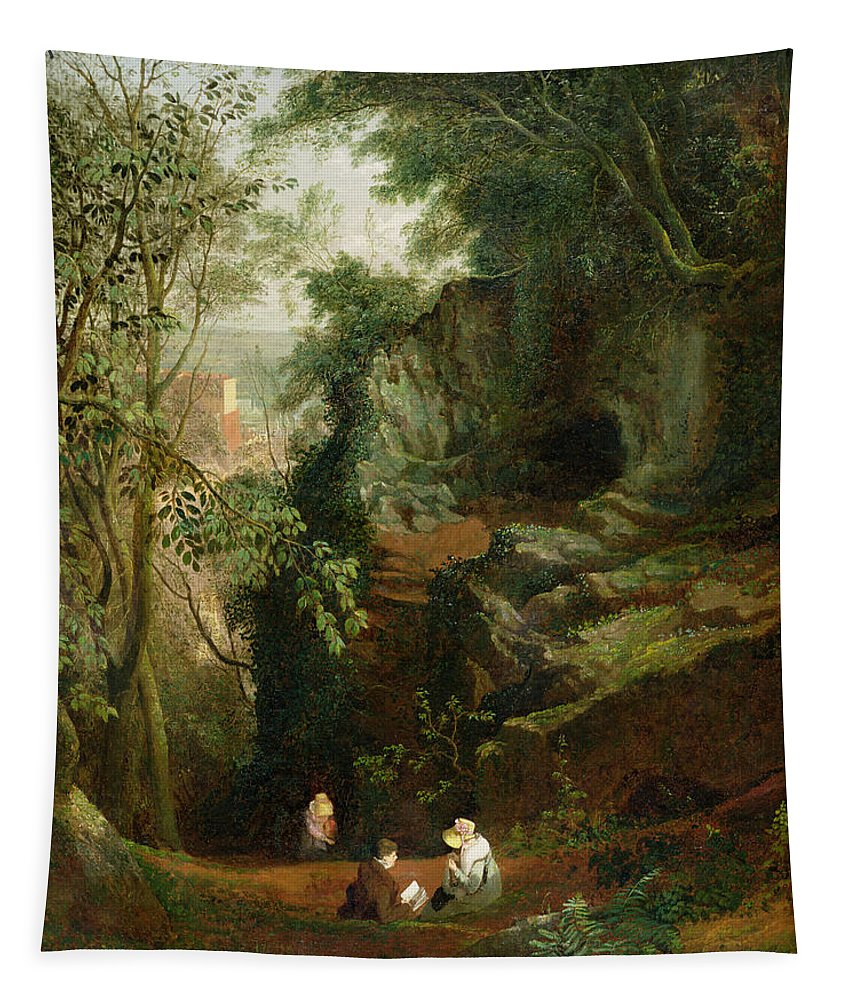 Xyc199545 Tapestry featuring the photograph Landscape Near Clifton by Francis Danby