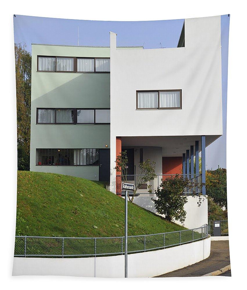 Le Corbusier Tapestry featuring the photograph Le Corbusier Building Stuttgart Weissenhof by Matthias Hauser