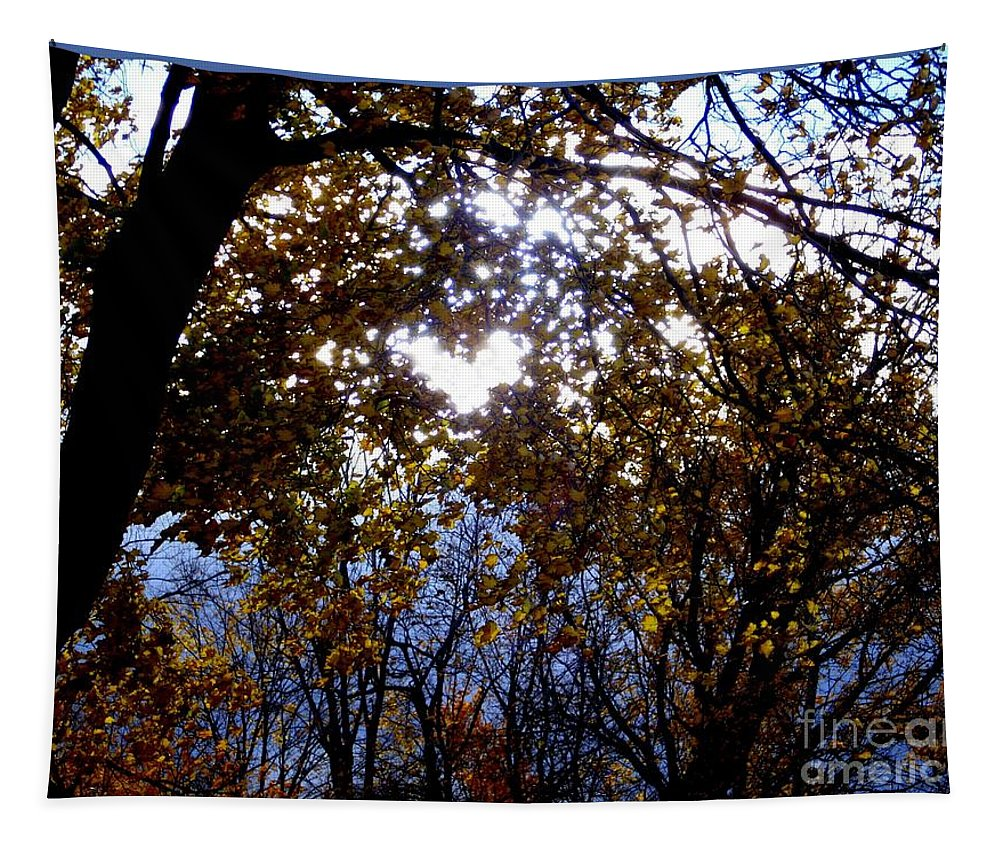 Autumn Tapestry featuring the photograph Let The Heart Shine by Linda Galok