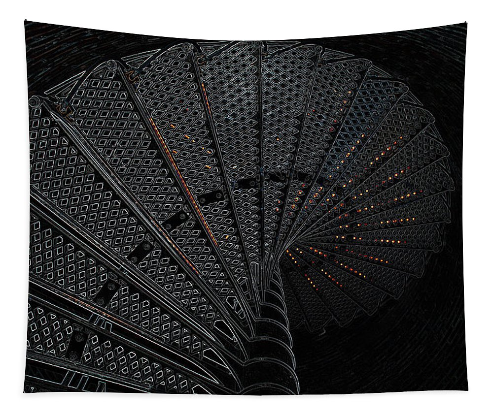 Photoshop Tapestry featuring the photograph Lighthouse Steps by Richard Bryce and Family