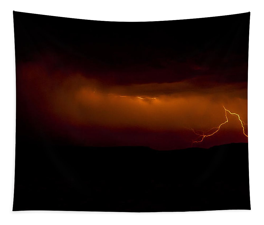 Lightning Tapestry featuring the photograph Lightning by Saija Lehtonen