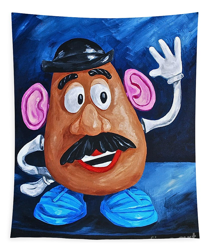 Mr. Potato Head Kids Toys Kids Games Old Toys Tapestry featuring the painting Looking At You by Herschel Fall