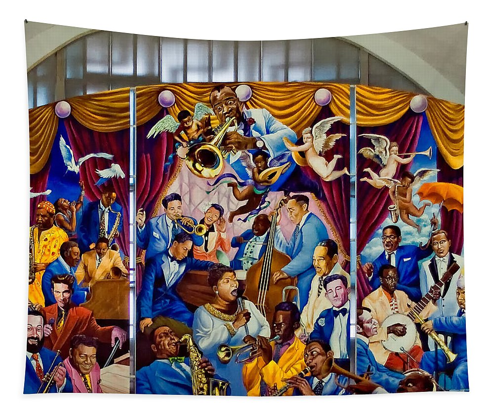 Louis Armstrong Tapestry featuring the photograph Louis Armstrong International Airport 2 by Steve Harrington