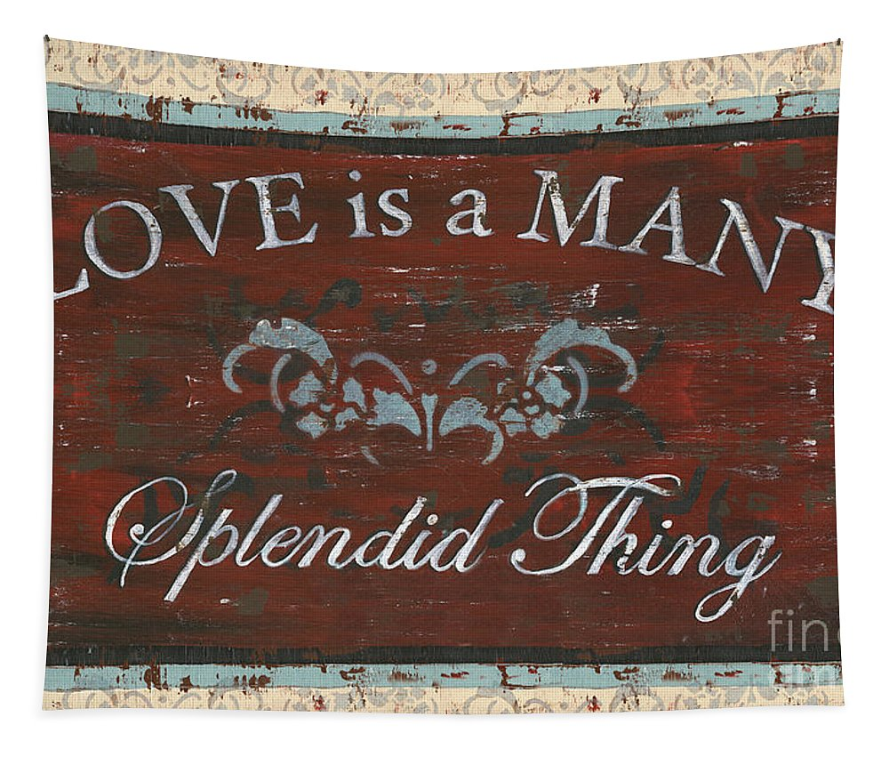 Love Tapestry featuring the painting Love Is A Many Splendid Thing by Debbie DeWitt