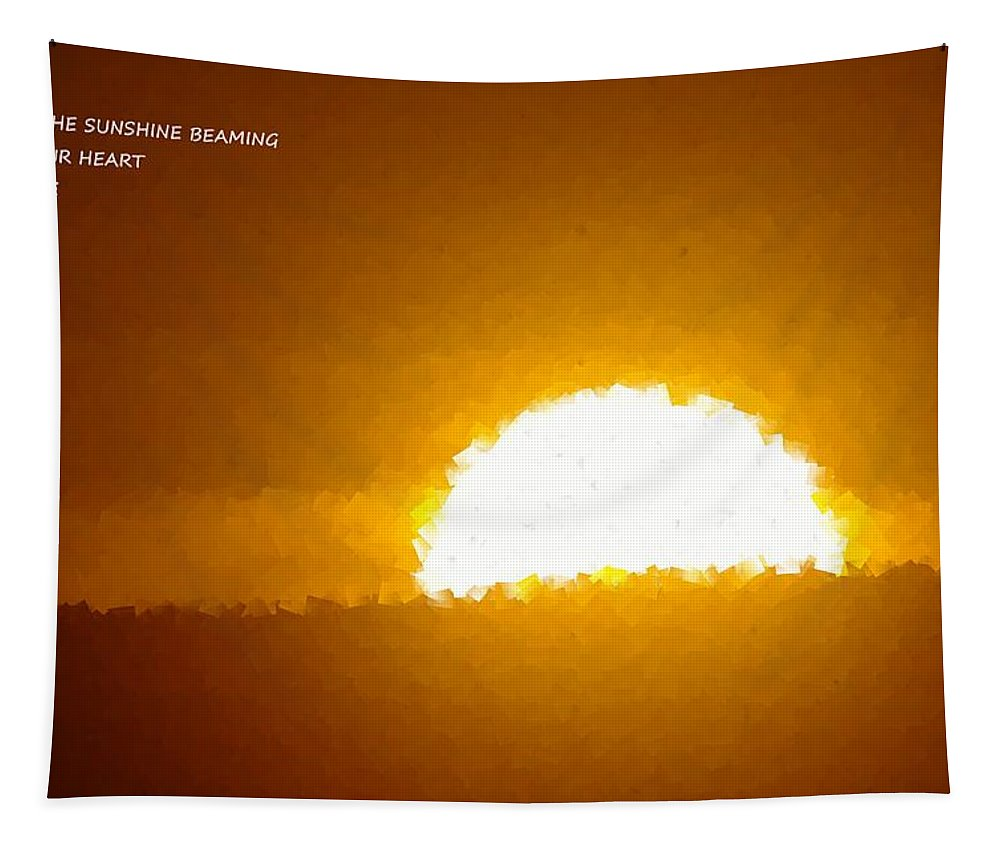 Sun. Sun Rise Tapestry featuring the photograph Love Is The Sunshine by Jeff Swan