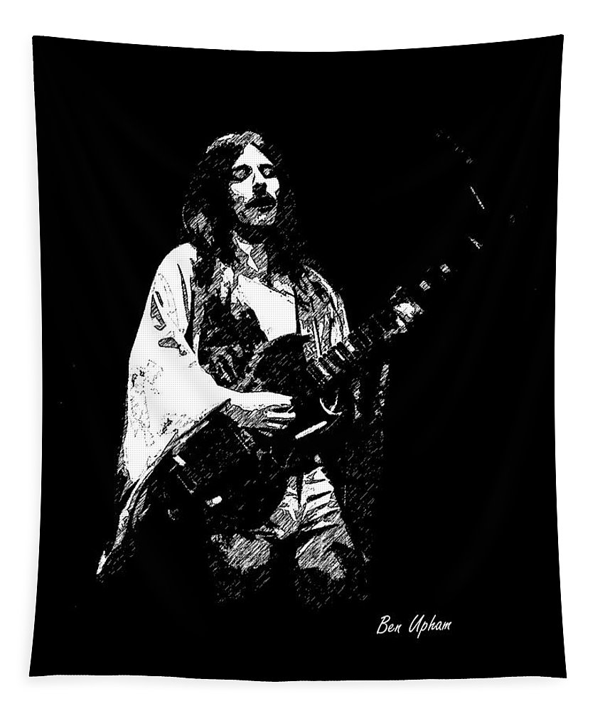 Frank Marino Tapestry featuring the photograph Mahogany Rush 4-14-78 by Ben Upham