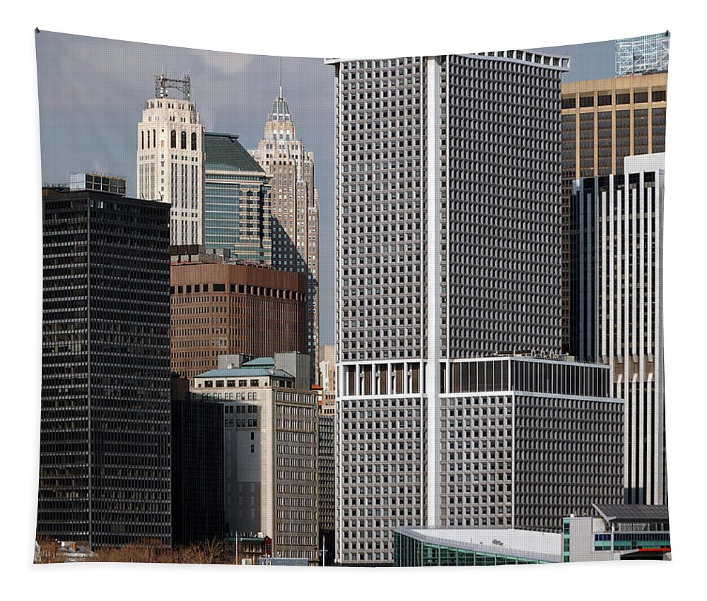 Newyork08 Tapestry featuring the photograph Manhattan Buildings by RicardMN Photography