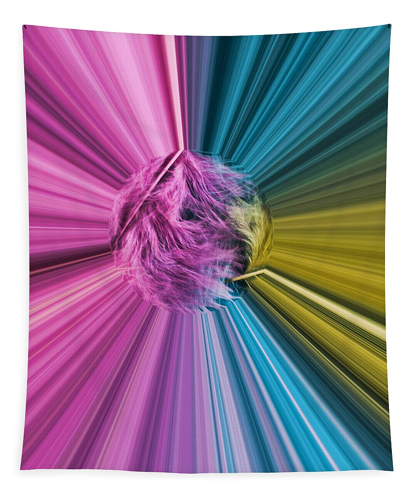Marabou Feather Tapestry featuring the photograph marabou Colour Splash by Steve Purnell
