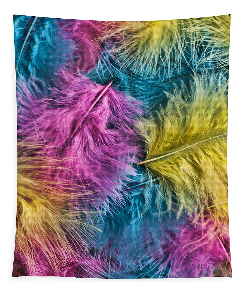 Marabou Feather Tapestry featuring the photograph Marabou Colours by Steve Purnell