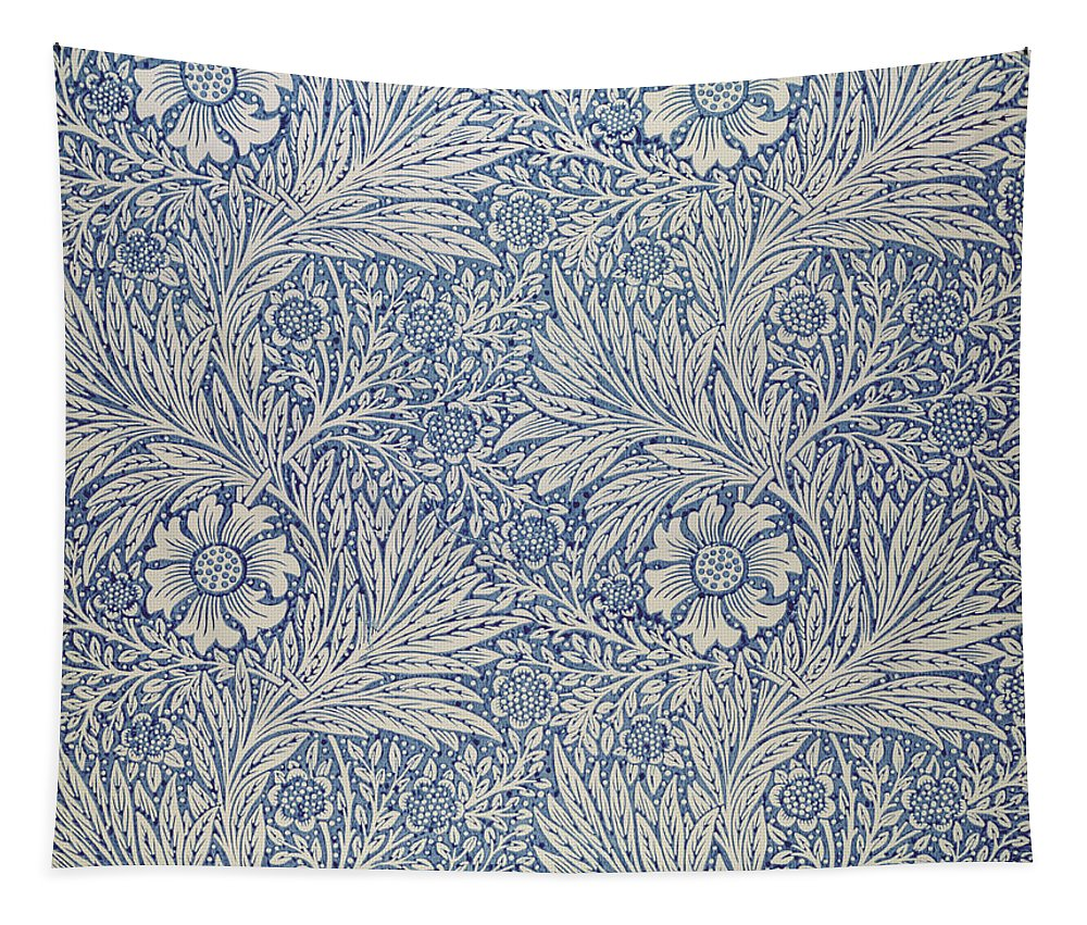 Arts And Crafts Movement; Floral; Pattern; Marigolds Tapestry featuring the tapestry - textile Marigold Wallpaper Design by William Morris