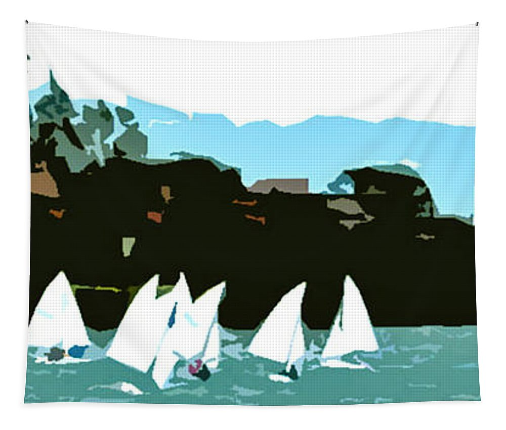 Marina Del Rey Tapestry featuring the photograph Marina Del Rey by Jerome Stumphauzer