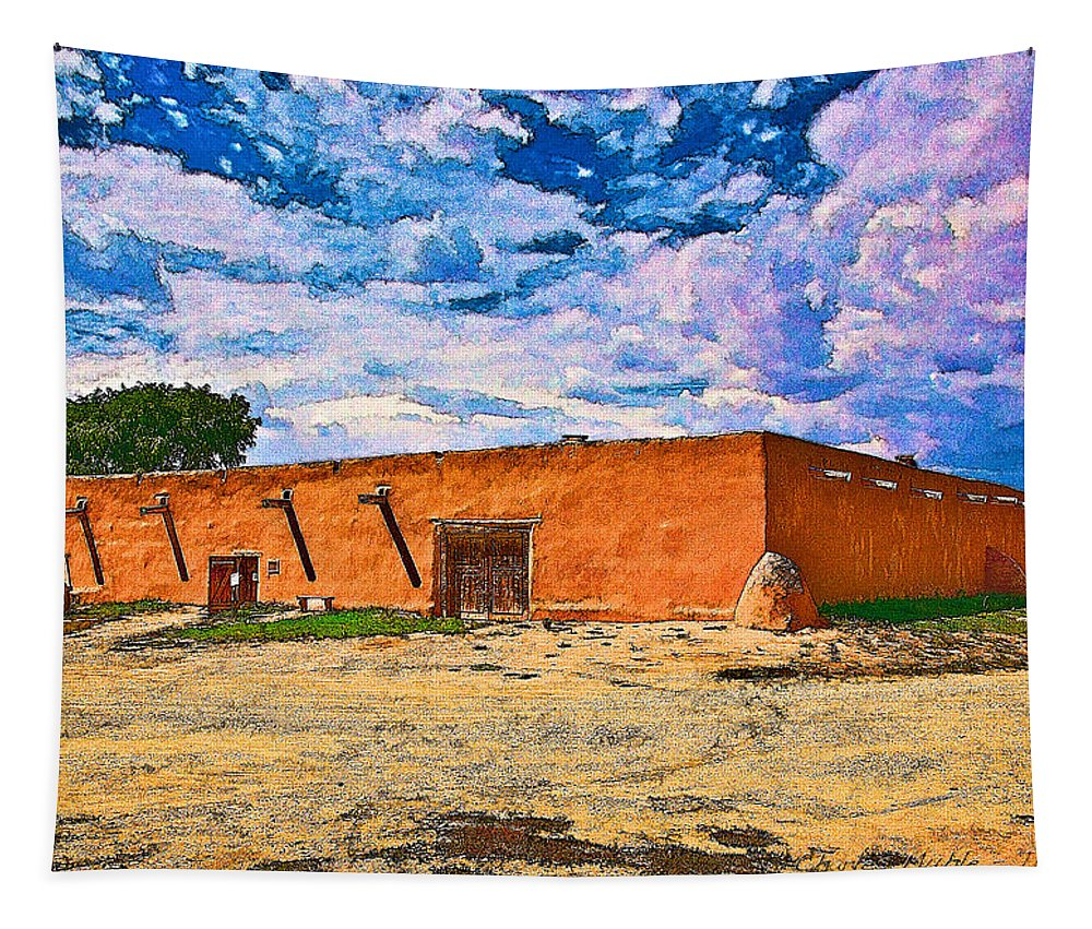 La Tapestry featuring the digital art Martinez Hacienda II by Charles Muhle