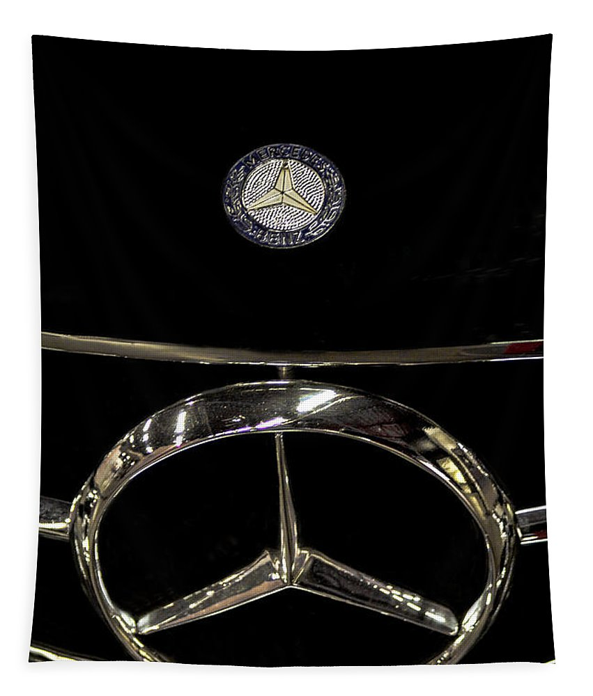 Mercedes Benz Tapestry featuring the photograph Mercedes Benz by Mitch Shindelbower