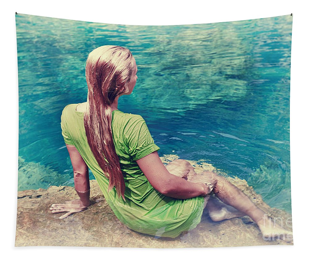 Mermaid Tapestry featuring the photograph Mermaid by MotHaiBaPhoto Prints