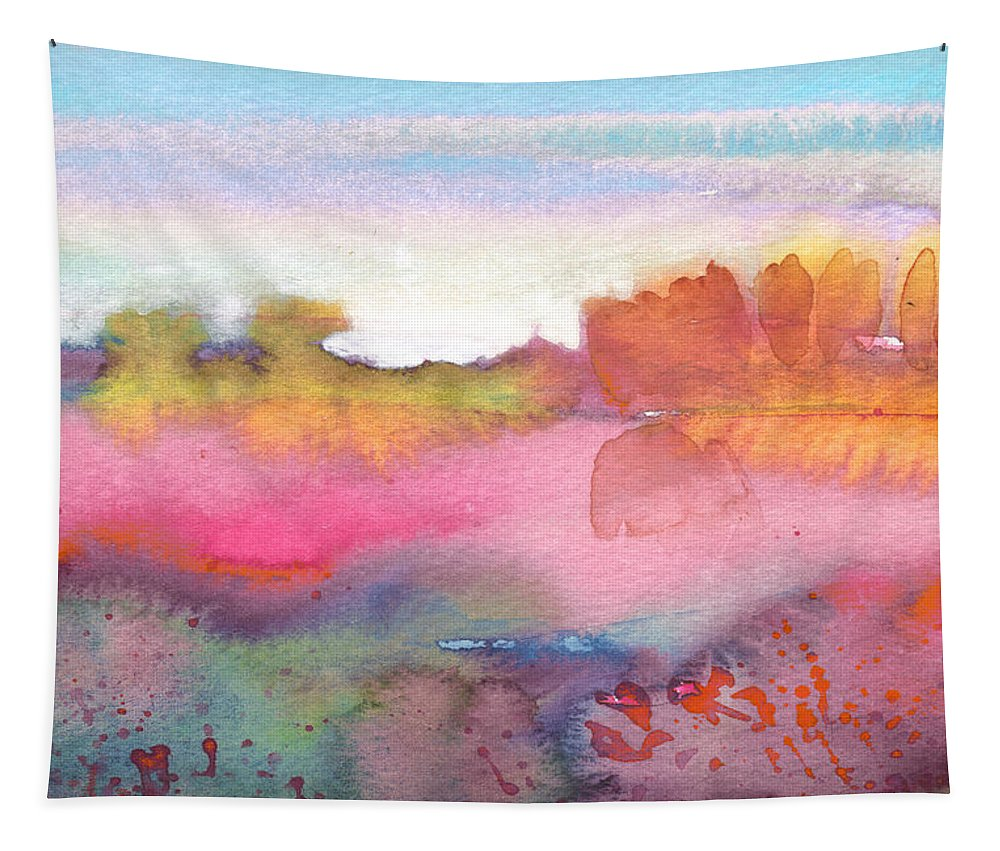 Watercolour Tapestry featuring the painting Midday 25 by Miki De Goodaboom