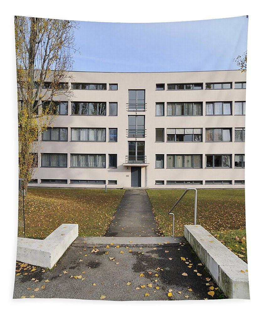 Apartment Tapestry featuring the photograph Mies Van Der Rohe Building Stuttgart Weissenhof by Matthias Hauser