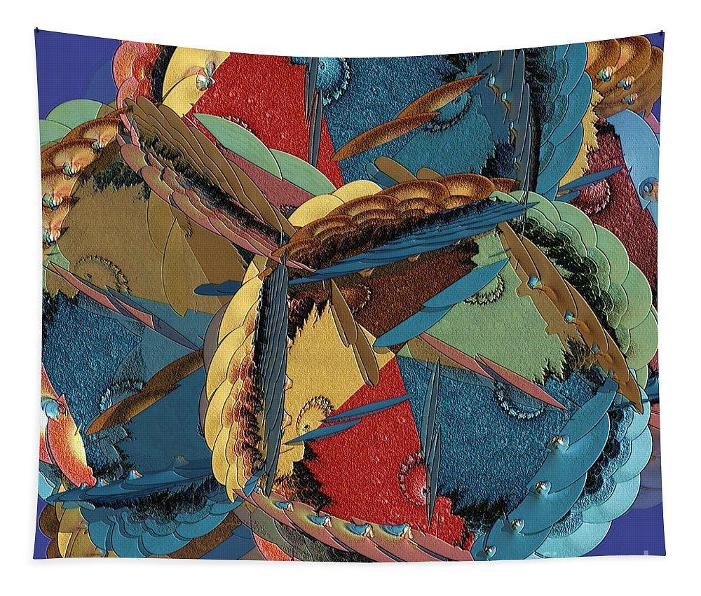 Colorful Tapestry featuring the digital art Mishmosh by Deborah Benoit