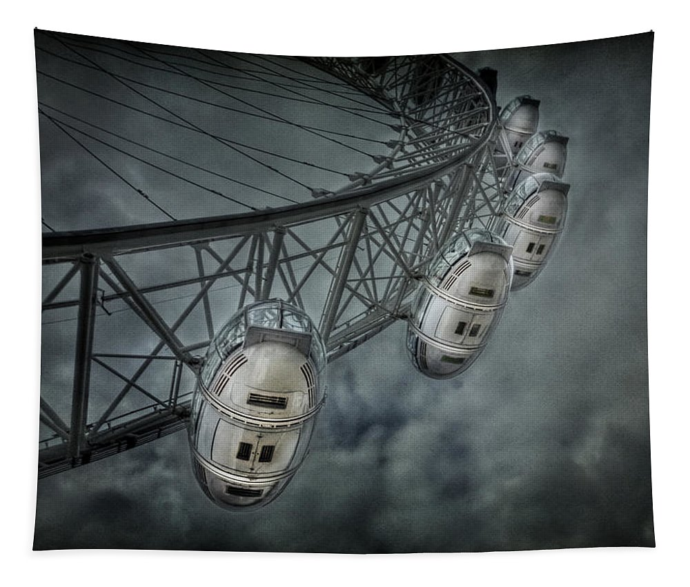 London Tapestry featuring the photograph More Then Meets The Eye by Evelina Kremsdorf