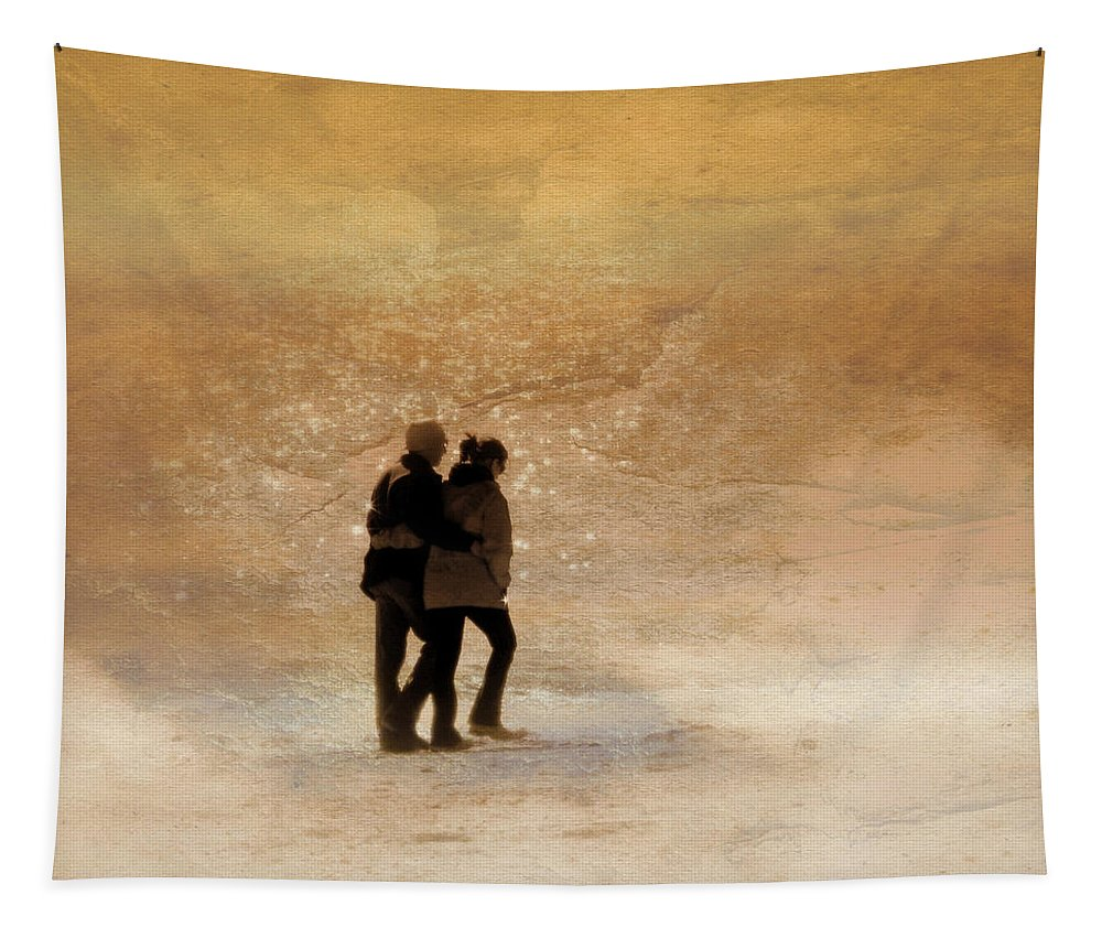 Beach Tapestry featuring the photograph Morning Stroll by Trish Tritz