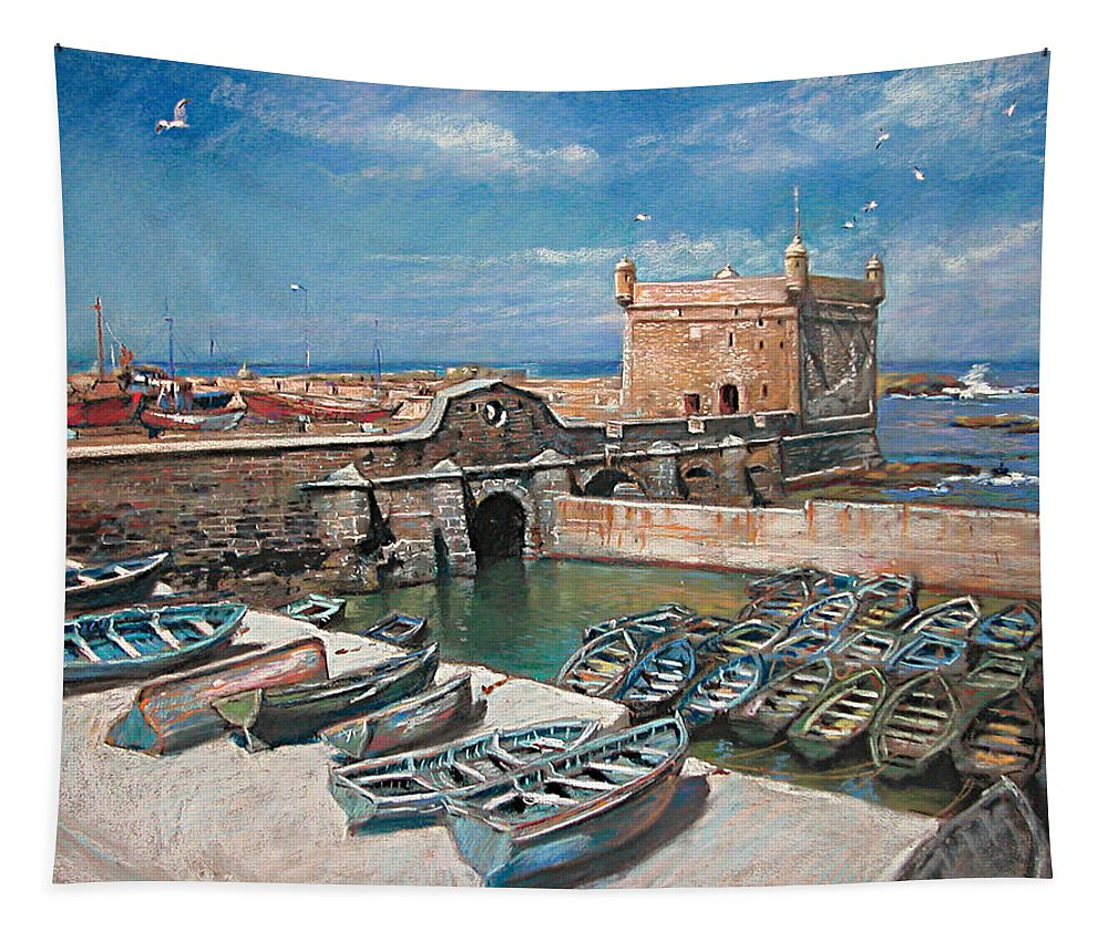 Morocco Tapestry featuring the pastel Morocco by Ylli Haruni