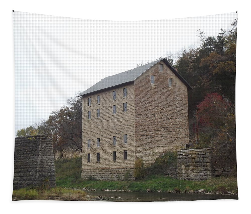 Mill Tapestry featuring the photograph Motor Mill by Bonfire Photography