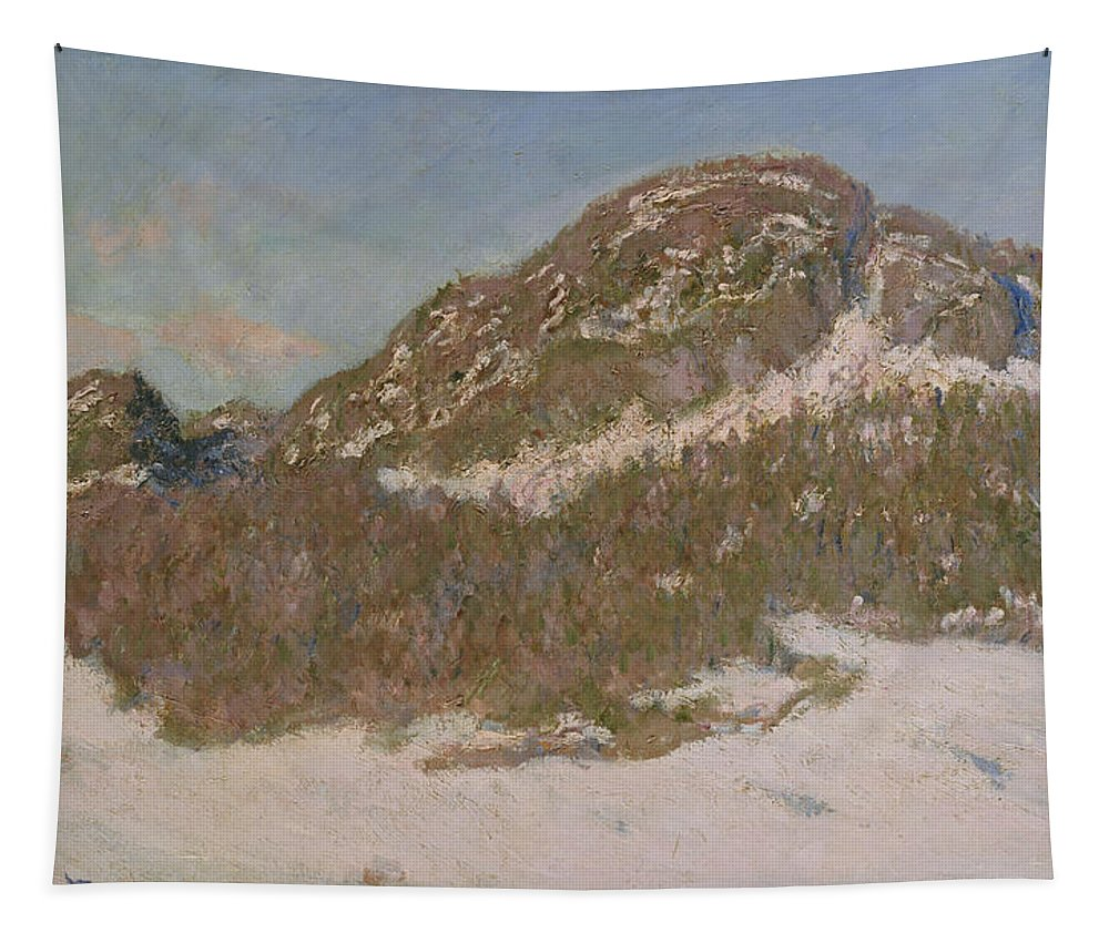 Claude Tapestry featuring the painting Mount Kolsaas In Sunlight by Claude Monet