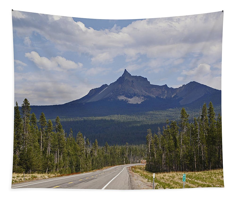 Mount Thielsen Tapestry featuring the photograph Mount Thielsen by Mick Anderson