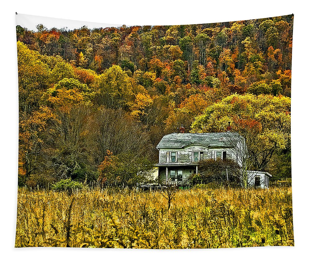 West Virginia Tapestry featuring the photograph Mountain Home Painted by Steve Harrington