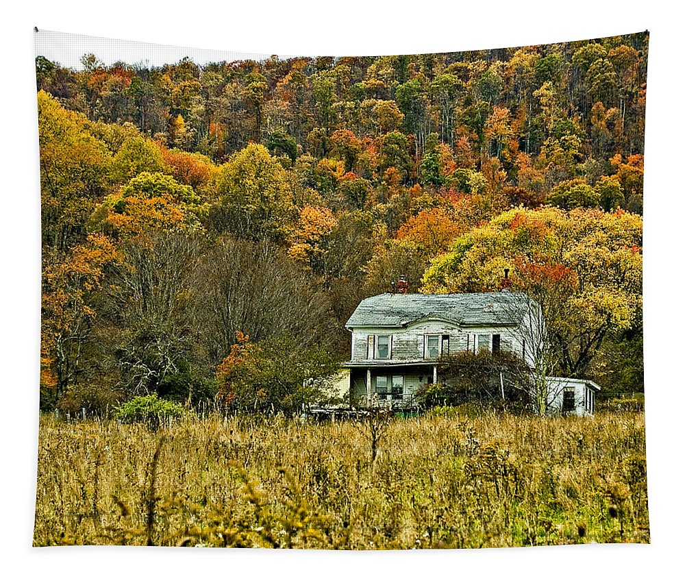 West Virginia Tapestry featuring the photograph Mountain Home by Steve Harrington