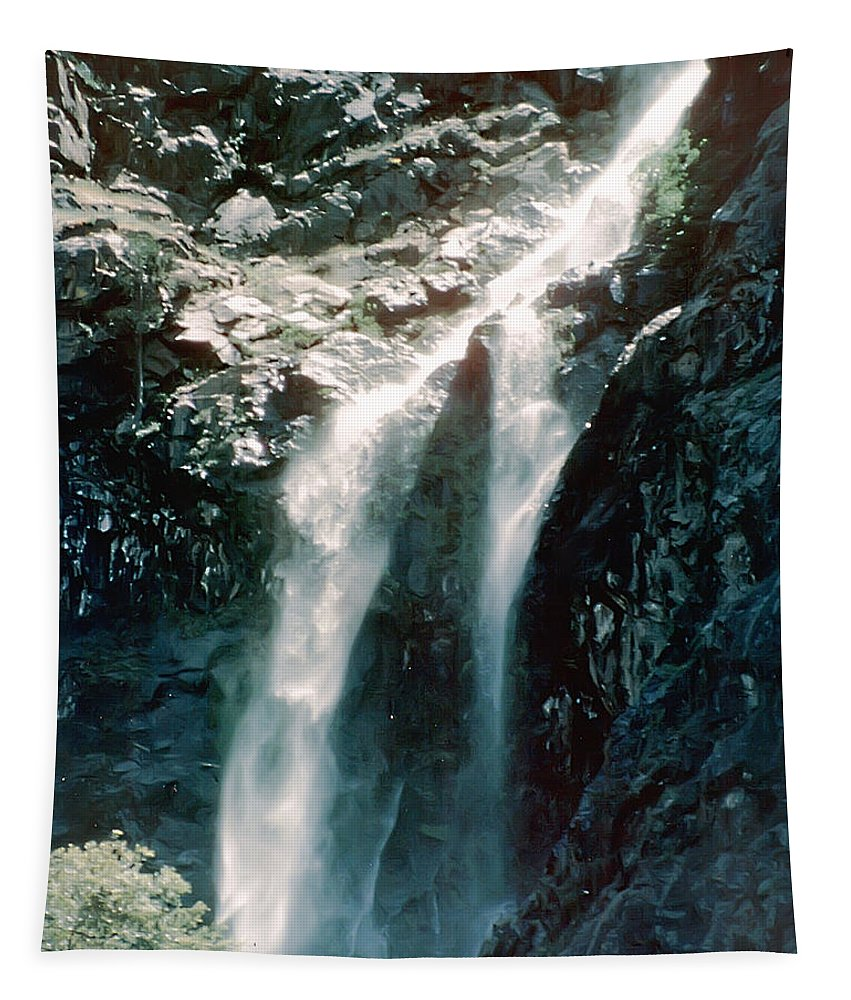 2d Tapestry featuring the photograph Mountain Waterfall by Brian Wallace