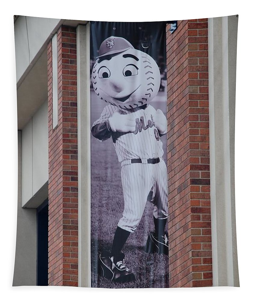 Shea Stadium Tapestry featuring the photograph Mr Met by Rob Hans